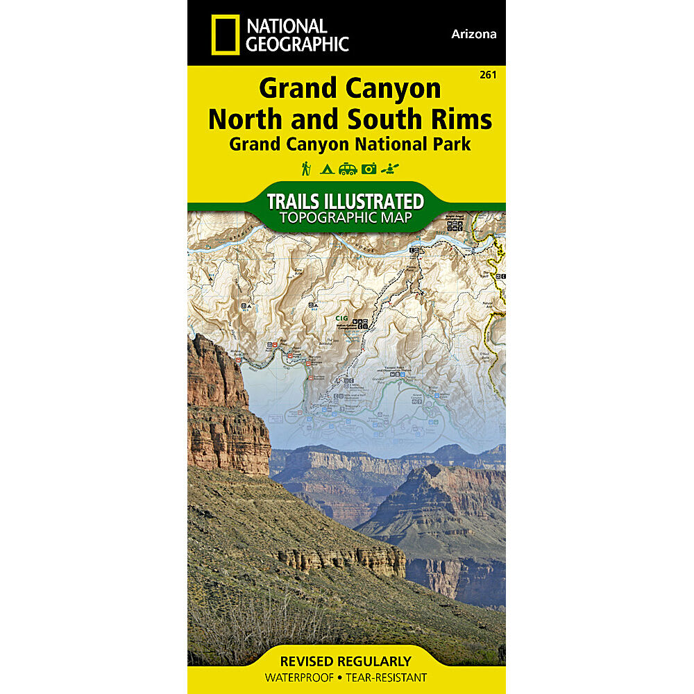 NAT GEO Grand Canyon Nat'l Park Map, '09 - NONE
