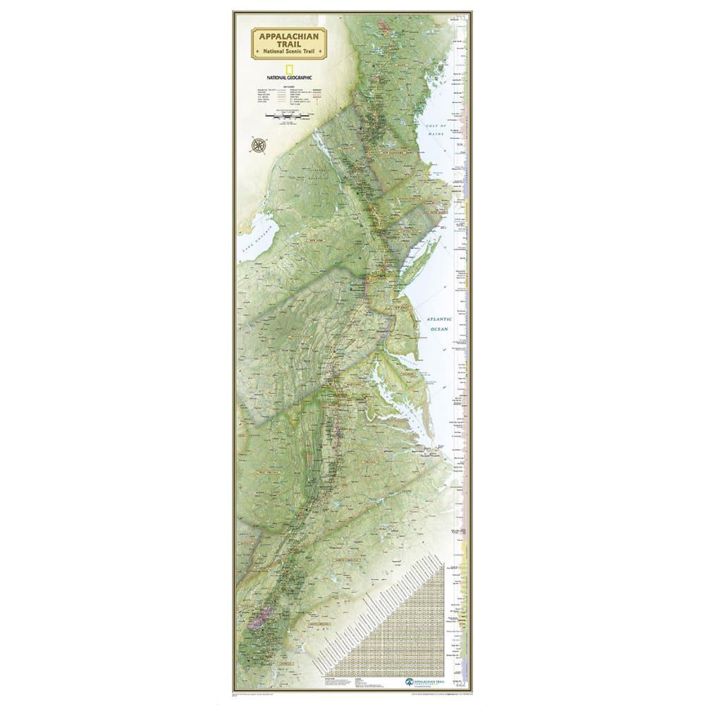 NAT GEO Boxed Appalachian Trail Wall Map - NONE