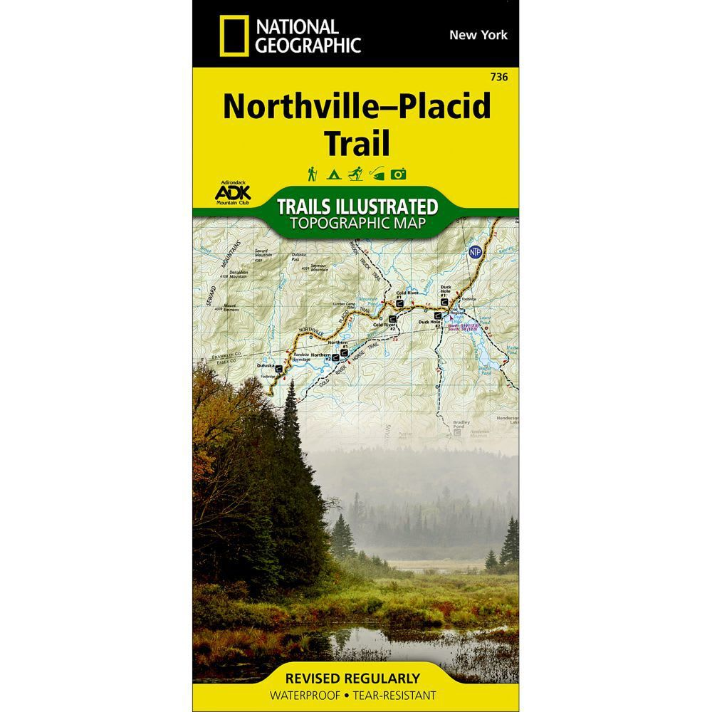 NATIONAL GEOGRAPHIC 736 Adirondack Park, Northville-Placid Trail Map - NONE