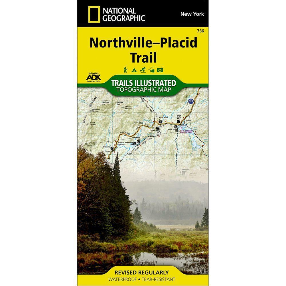 NATIONAL GEOGRAPHIC 736 Adirondack Park, Northville-Placid Trail Map NO SIZE