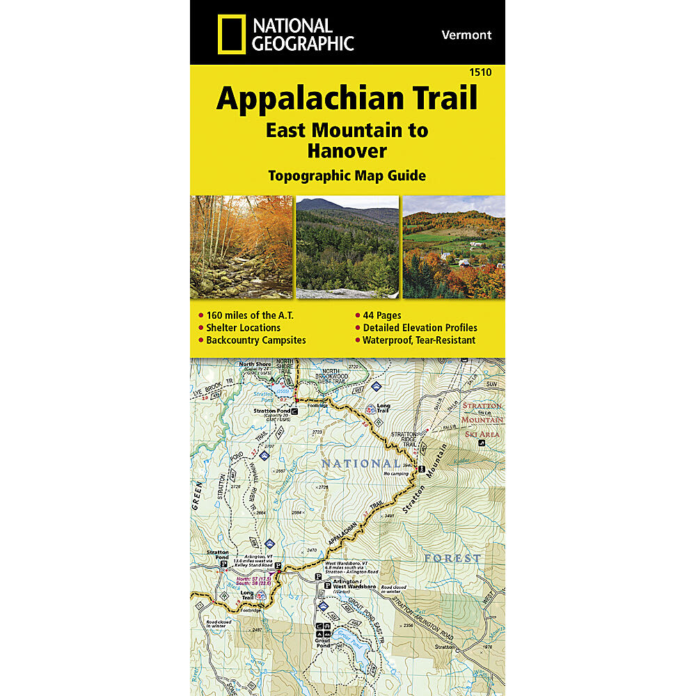 NATIONAL GEOGRAPHIC Appalachian Trail, East Mountain to Hanover Topographic Map Guide NO SIZE