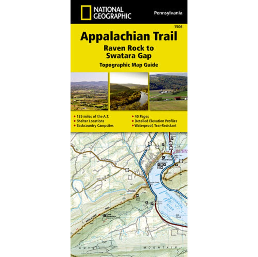 NATIONAL GEOGRAPHIC Appalachian Trail, Raven Rock to Swatara Gap Topographic Map Guide NO SIZE