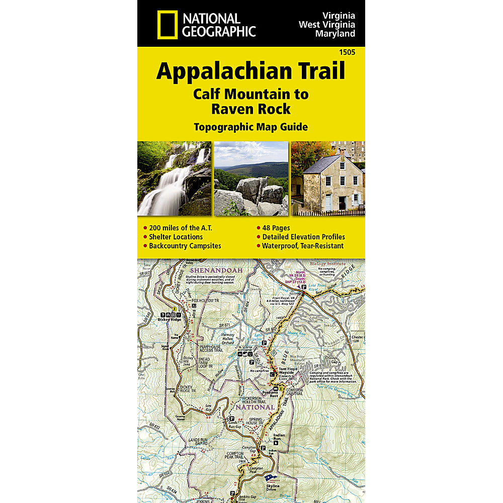NATIONAL GEOGRAPHIC Appalachian Trail, Calf Mountain to Raven Rock Topographic Map Guide - NONE