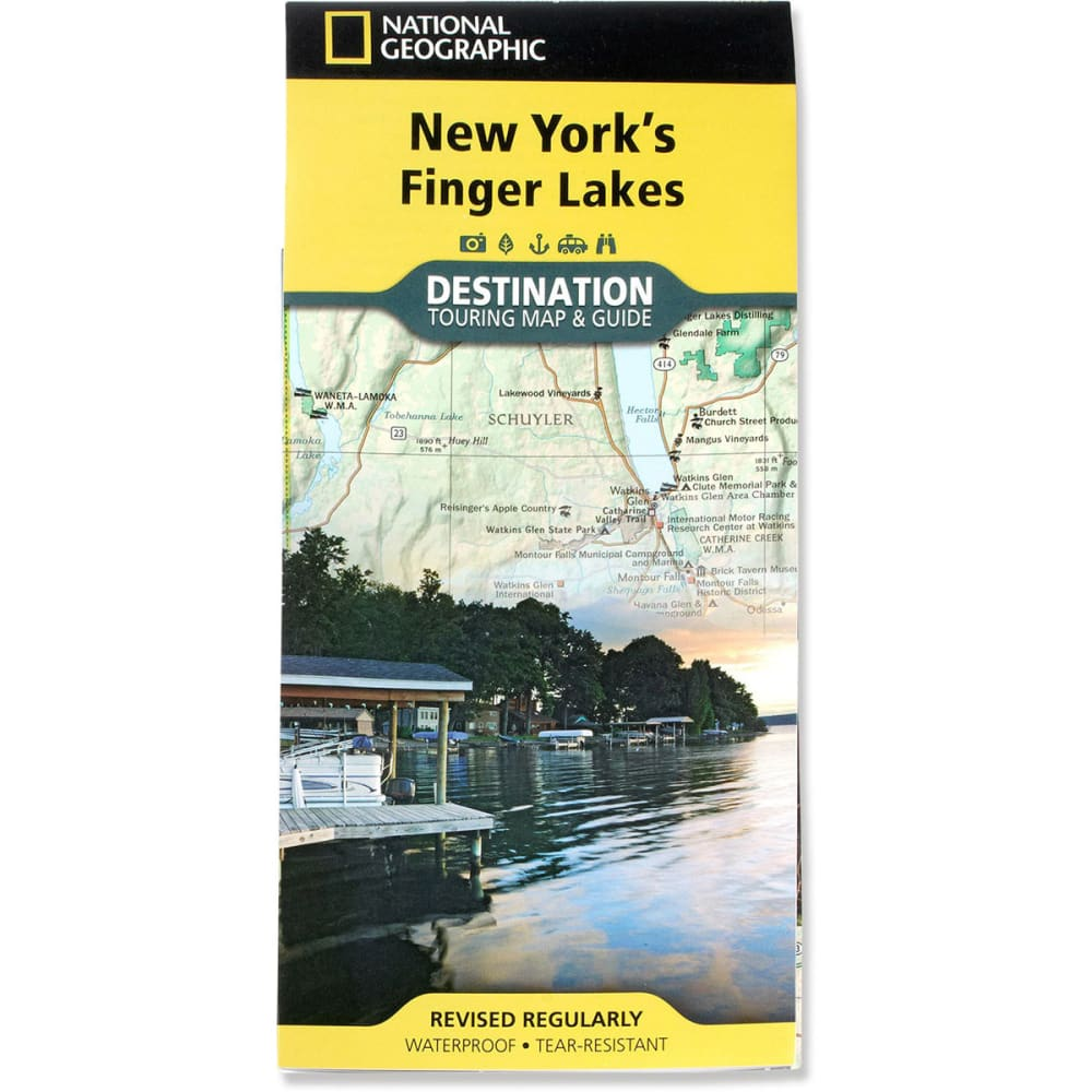 NAT GEO Finger Lakes, New York Map - NONE