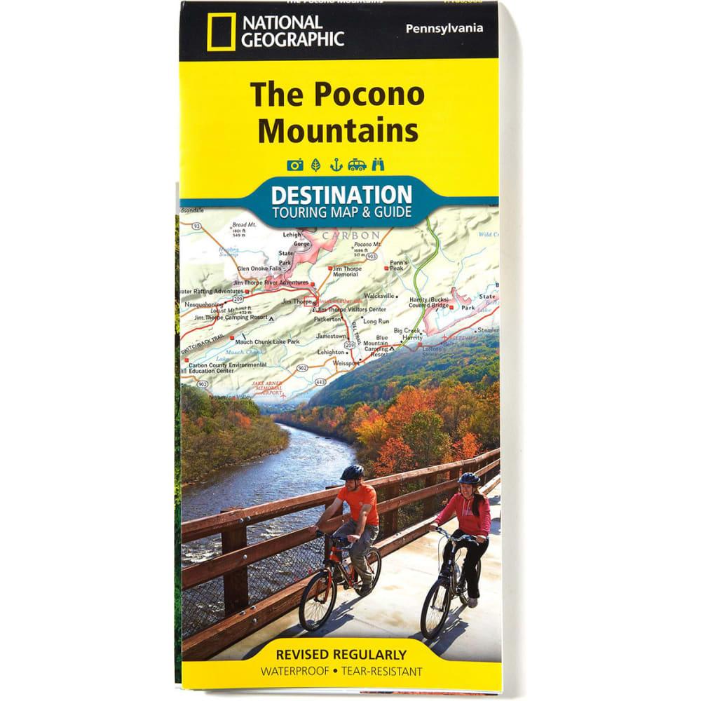 NAT GEO Pocono Mountains Map NO SIZE