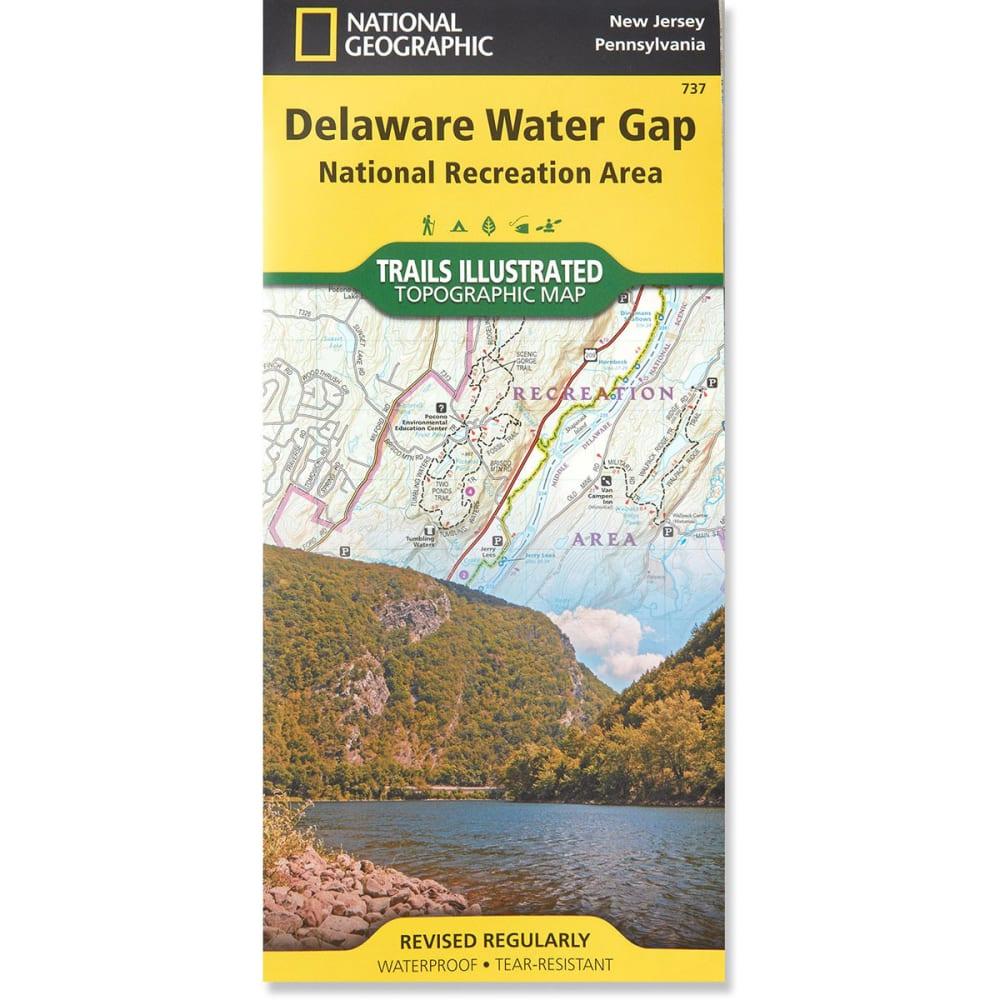 NAT GEO Delaware Water Gap Map NO SIZE