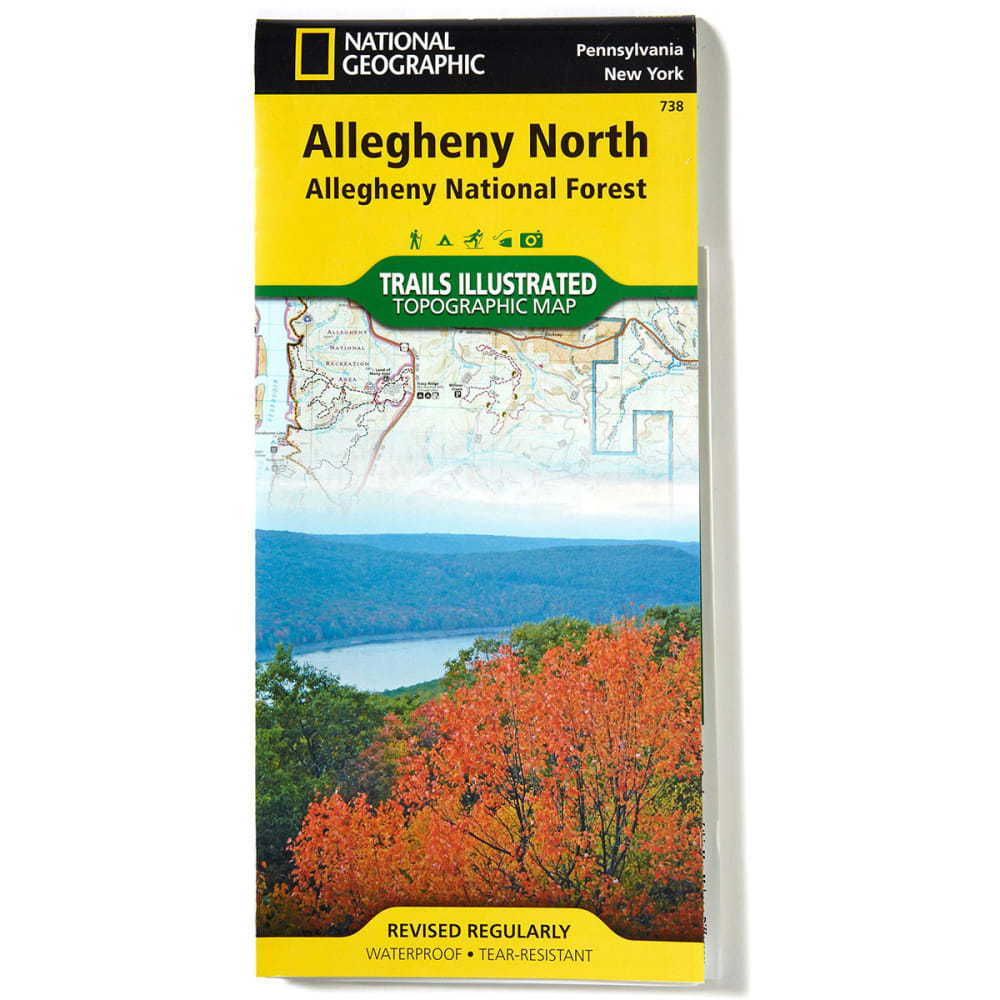 NAT GEO Alleghany National Forest Map, North - NONE
