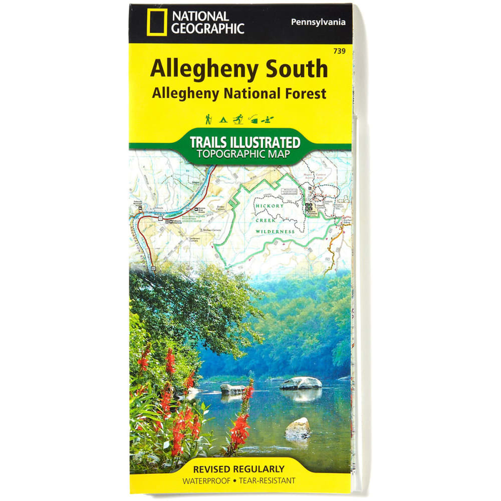 NAT GEO Alleghany National Forest Map, South - NONE