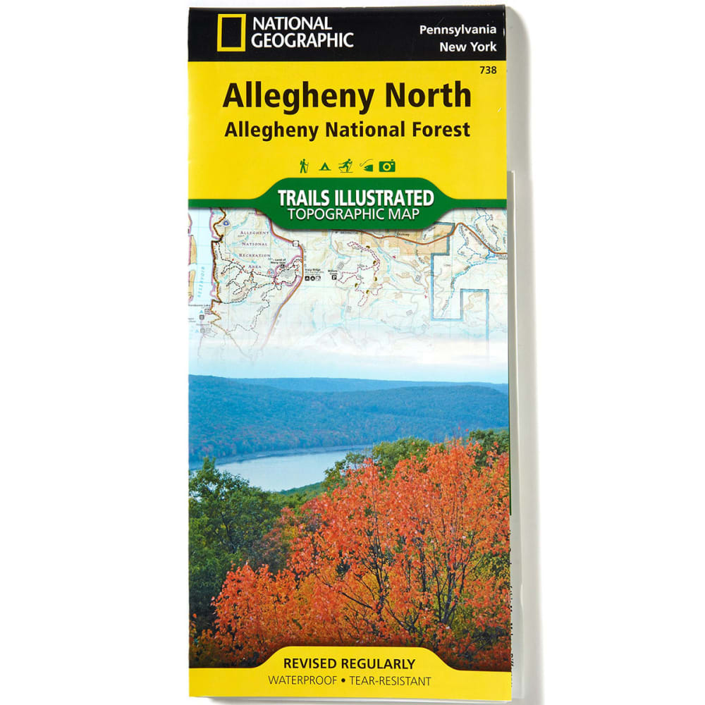 NATIONAL GEOGRAPHIC 738 Allegheny National Forest North Map - NONE