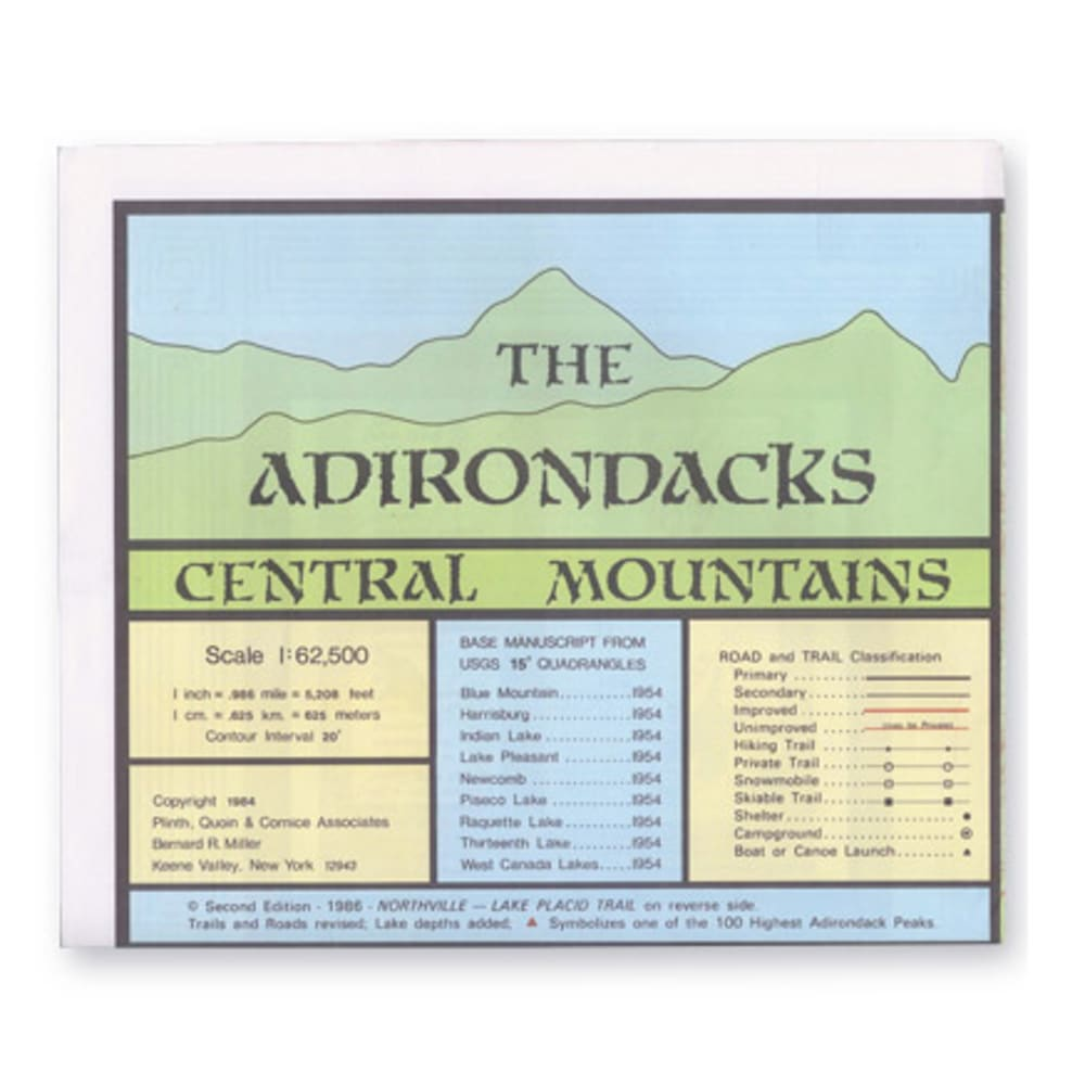 ADK Central Mountains Map NA