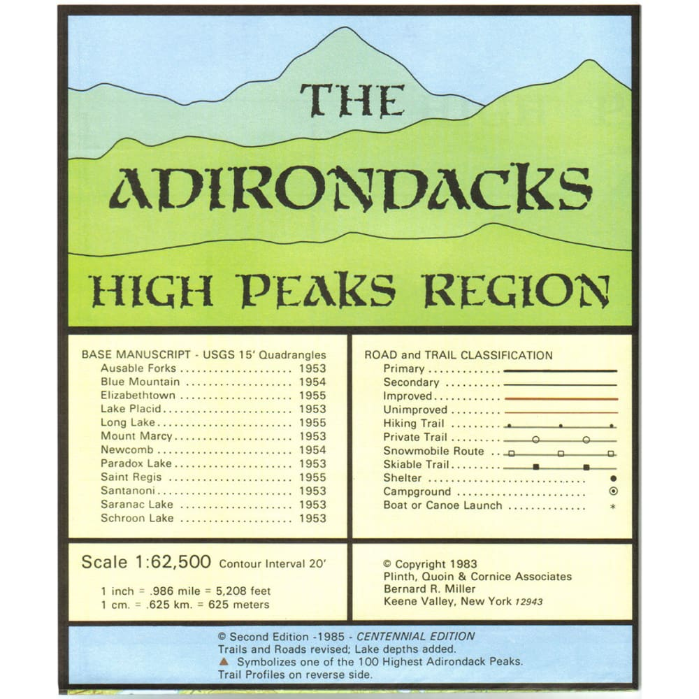 The Adirondacks Northwest Lakes Map NA