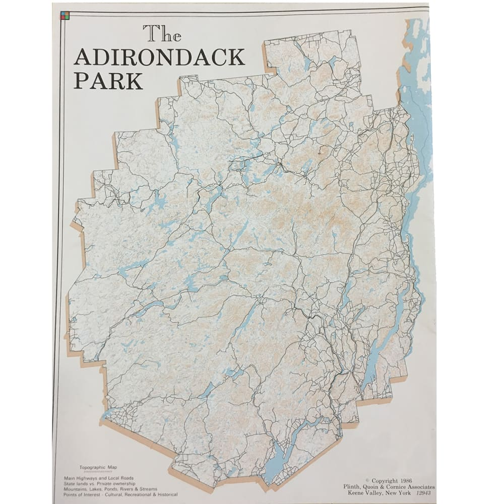 The Adirondack Park Map NA