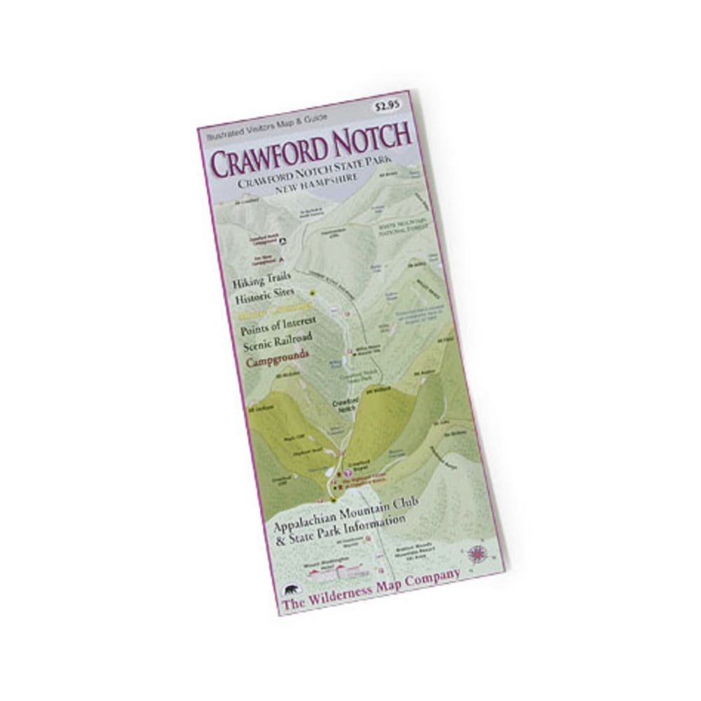 Crawford Notch State Park Map, NH NA