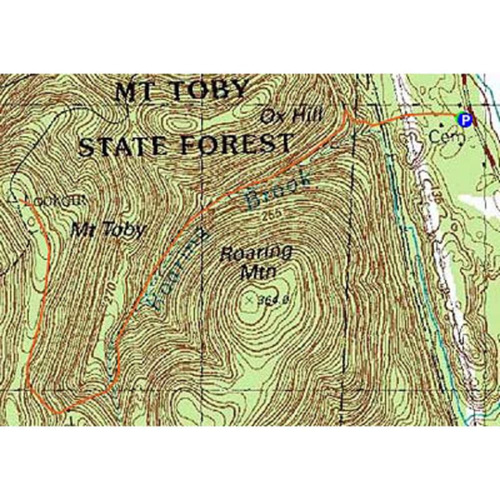 Mt. Toby Reservation Trail Map - NONE