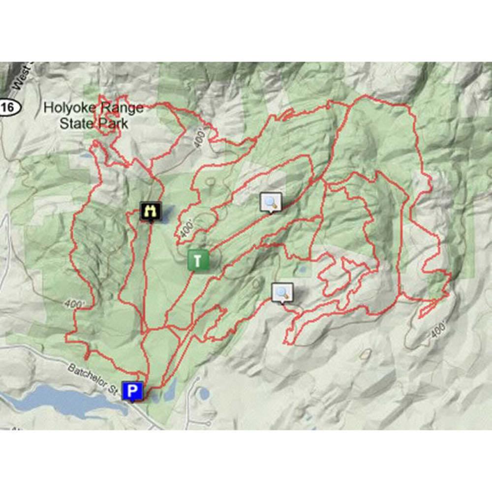 Holyoke Range West Trail Map - NONE