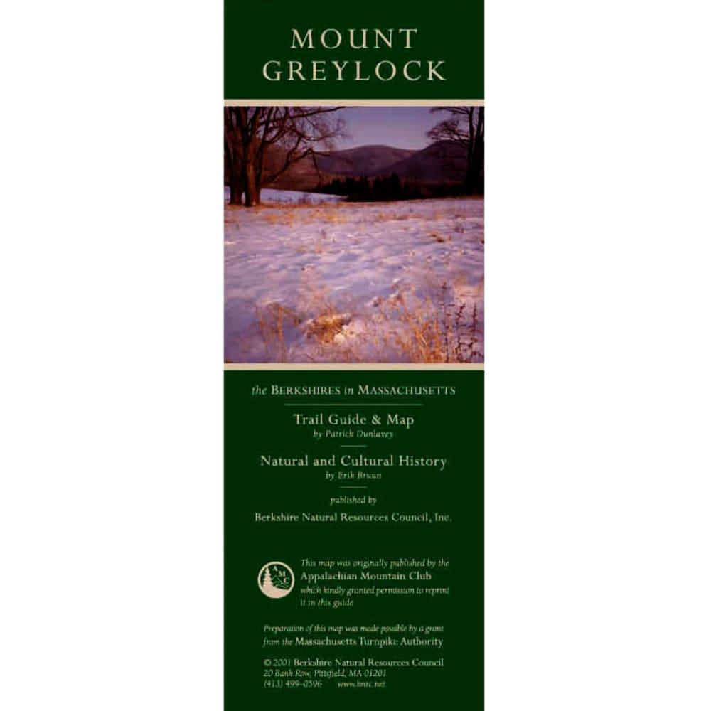 Mt. Greylock Reservation Trail Map NA