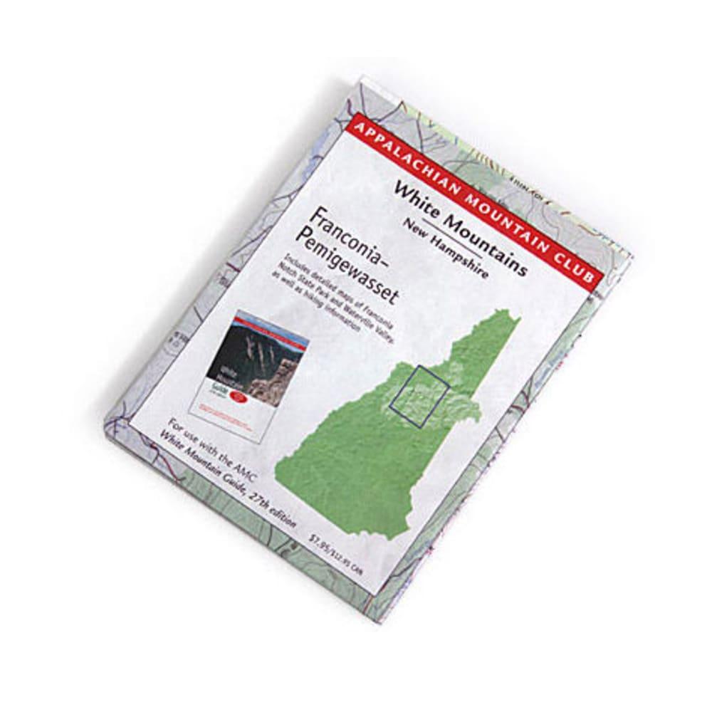 photo: Appalachian Mountain Club White Mountains Trail Map: Franconia-Pemigewassat us northeast paper map