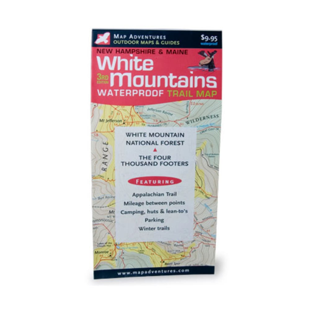 White Mountains Waterproof Trail Map - NONE