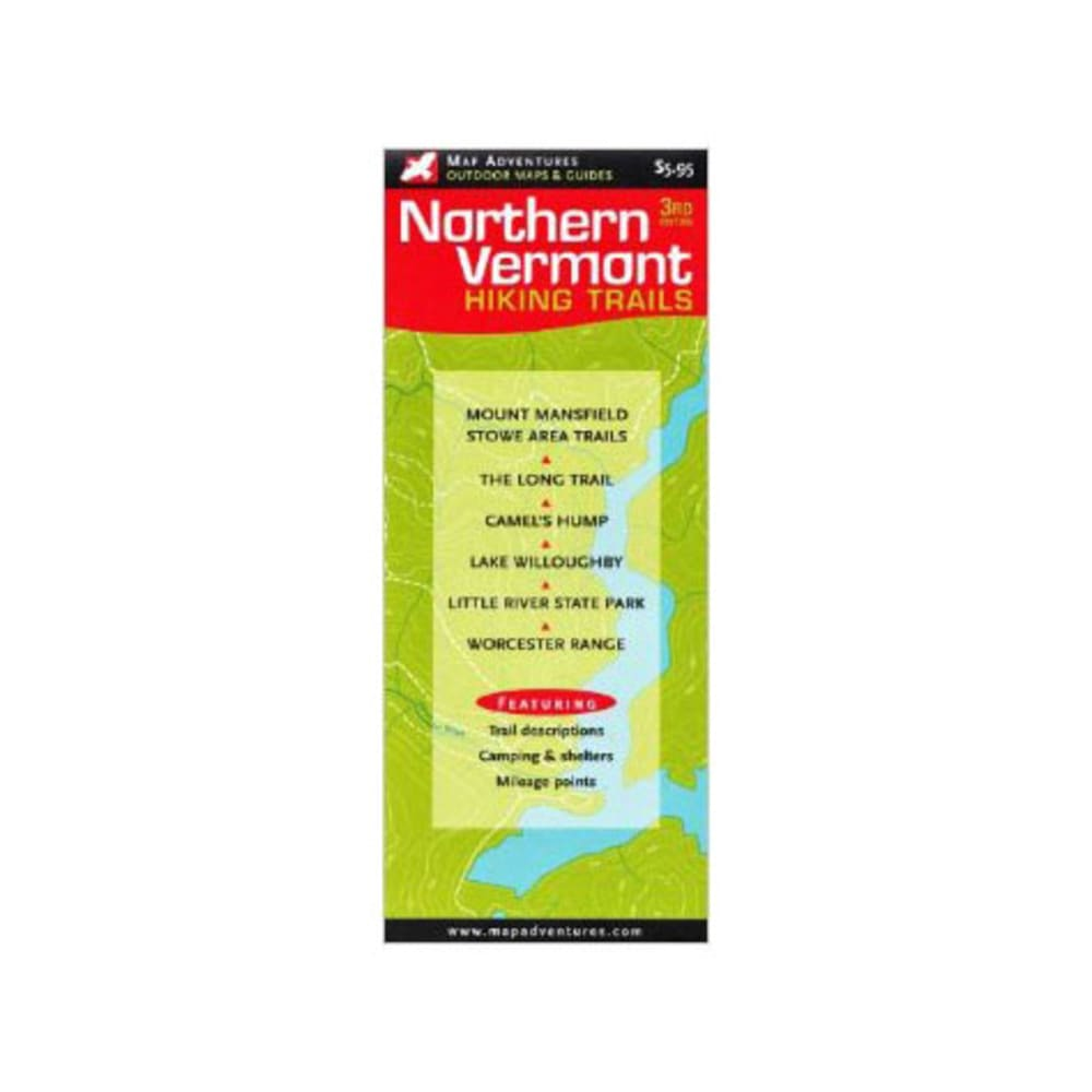 photo: Map Adventures Northern Vermont Hiking Trails us northeast paper map