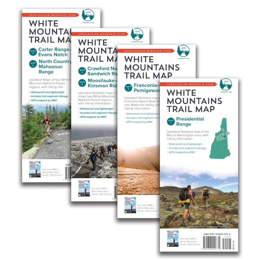 AMC White Mountain Trail Maps NA