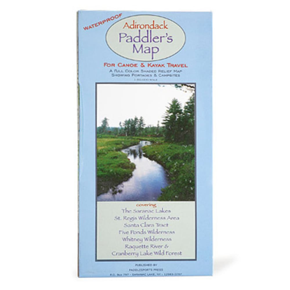 Paddlesports Press Adirondack Paddler's Map