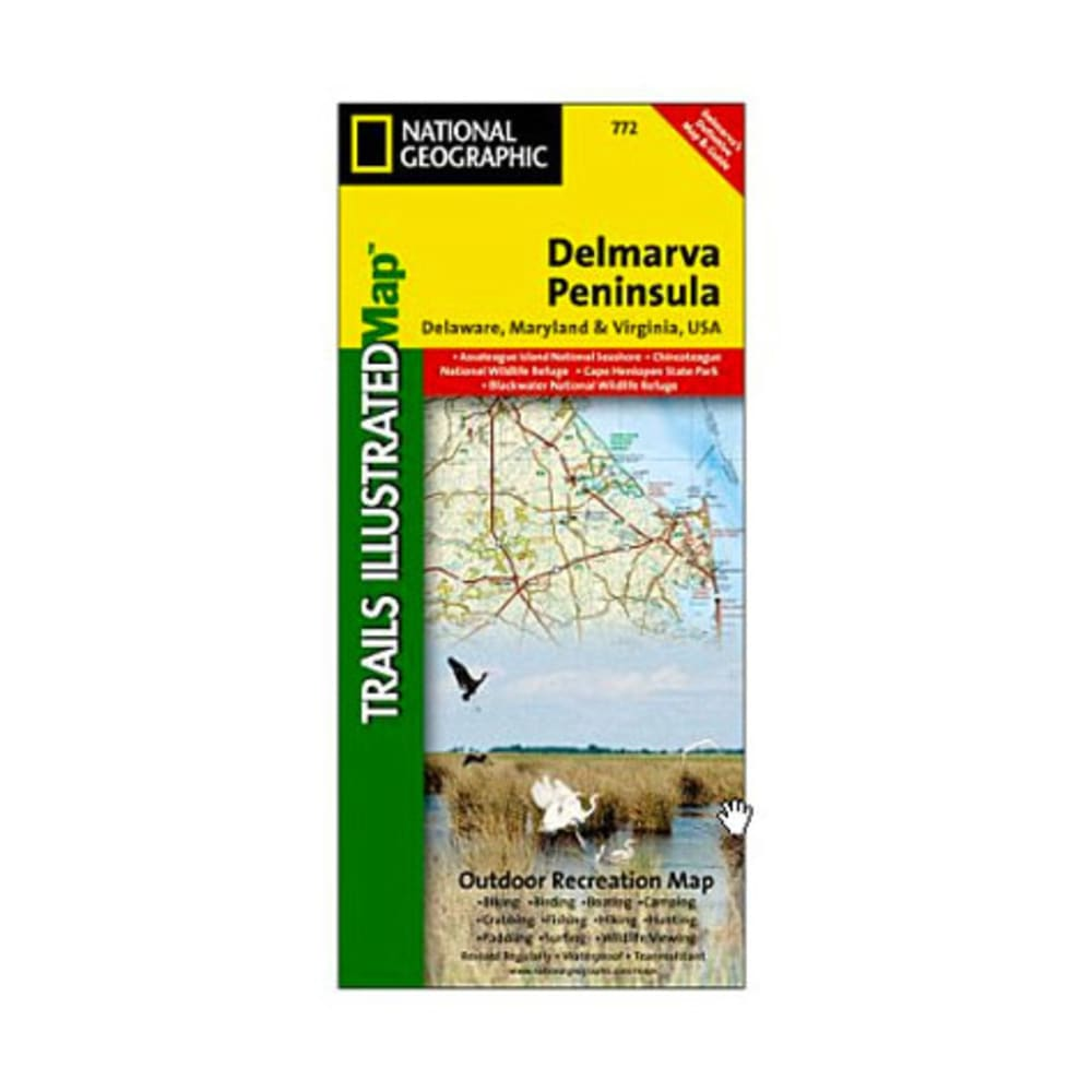 National Geographic Delmarva Peninsula Trail Map