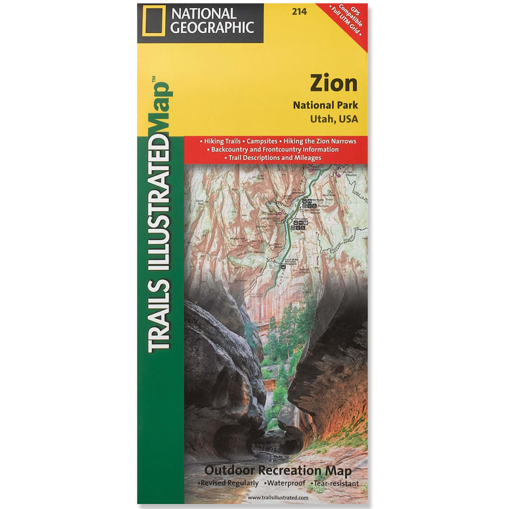 NATIONAL GEOGRAPHIC Trails Illustrated Zion National Park NA