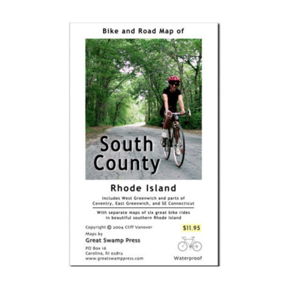 Bike and Road Map of South County RI - NONE