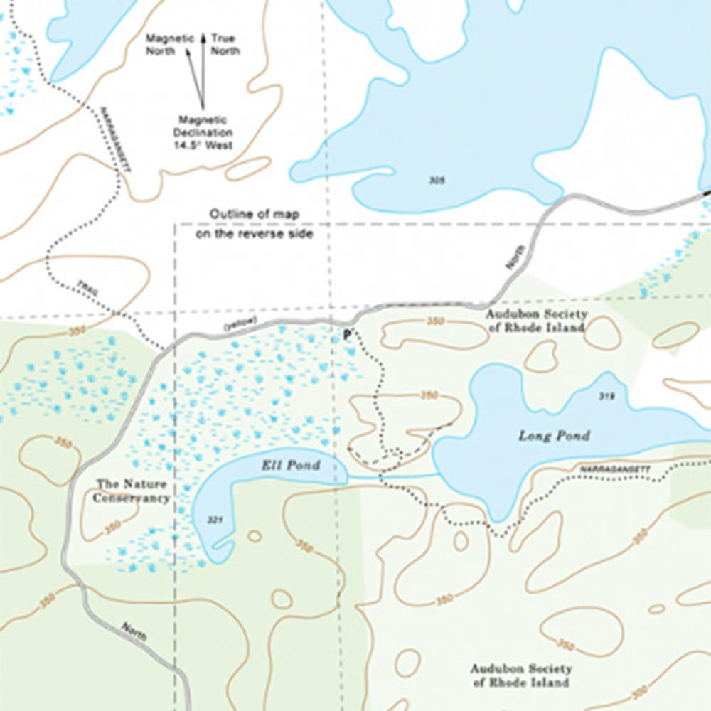 Long and Ell Ponds Trail Map, RI - NONE
