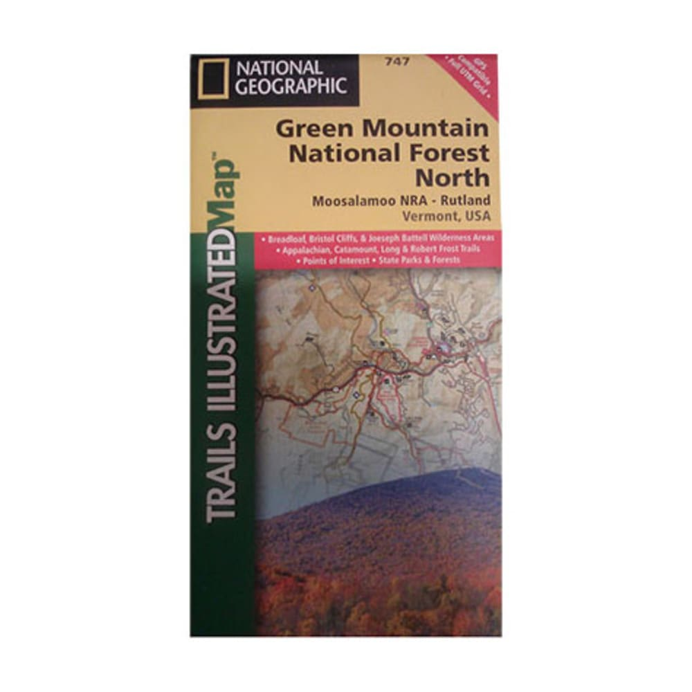 NAT GEO Green Mountains Central Map - NONE