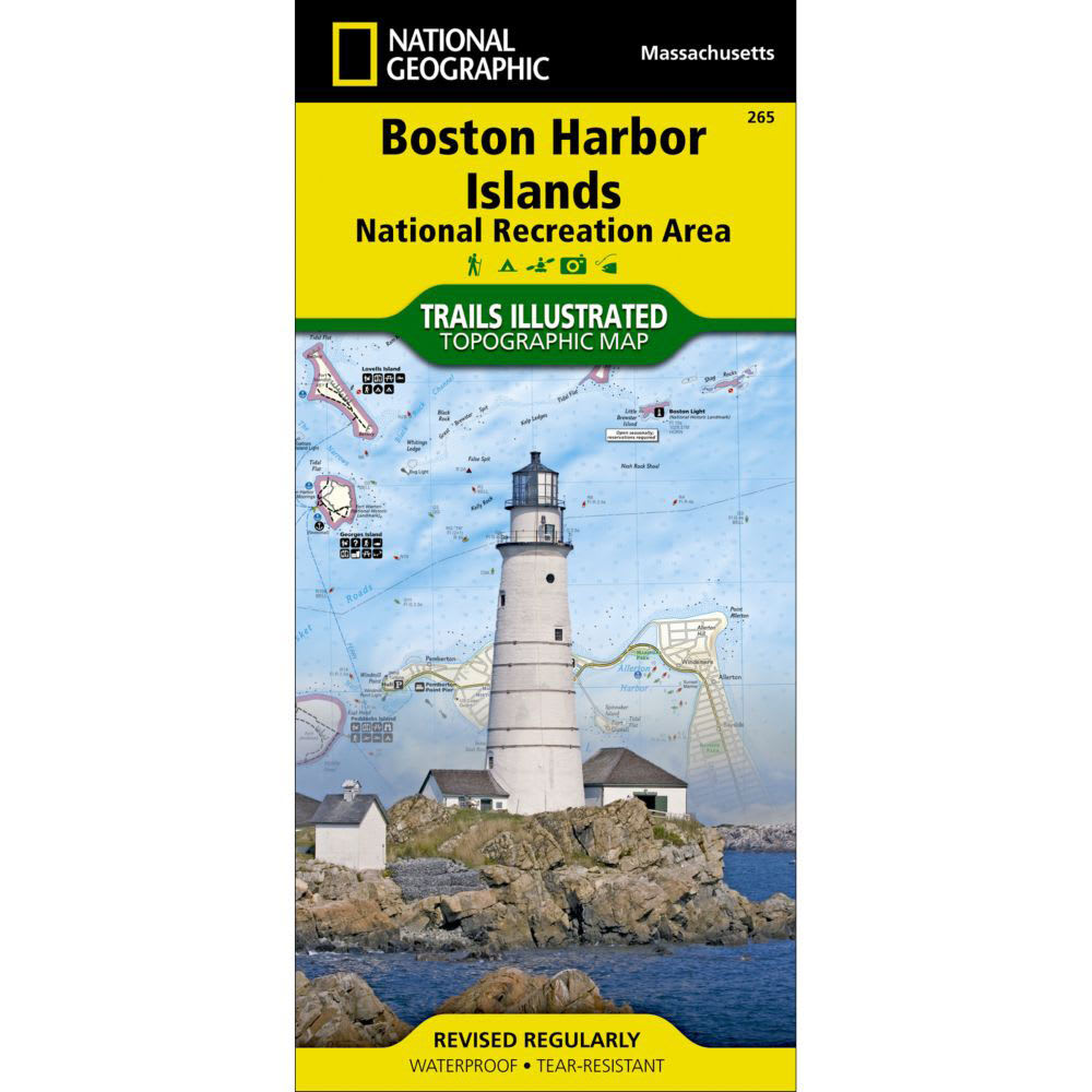 NAT GEO Boston Harbor Islands National Recreation Area Map - NONE