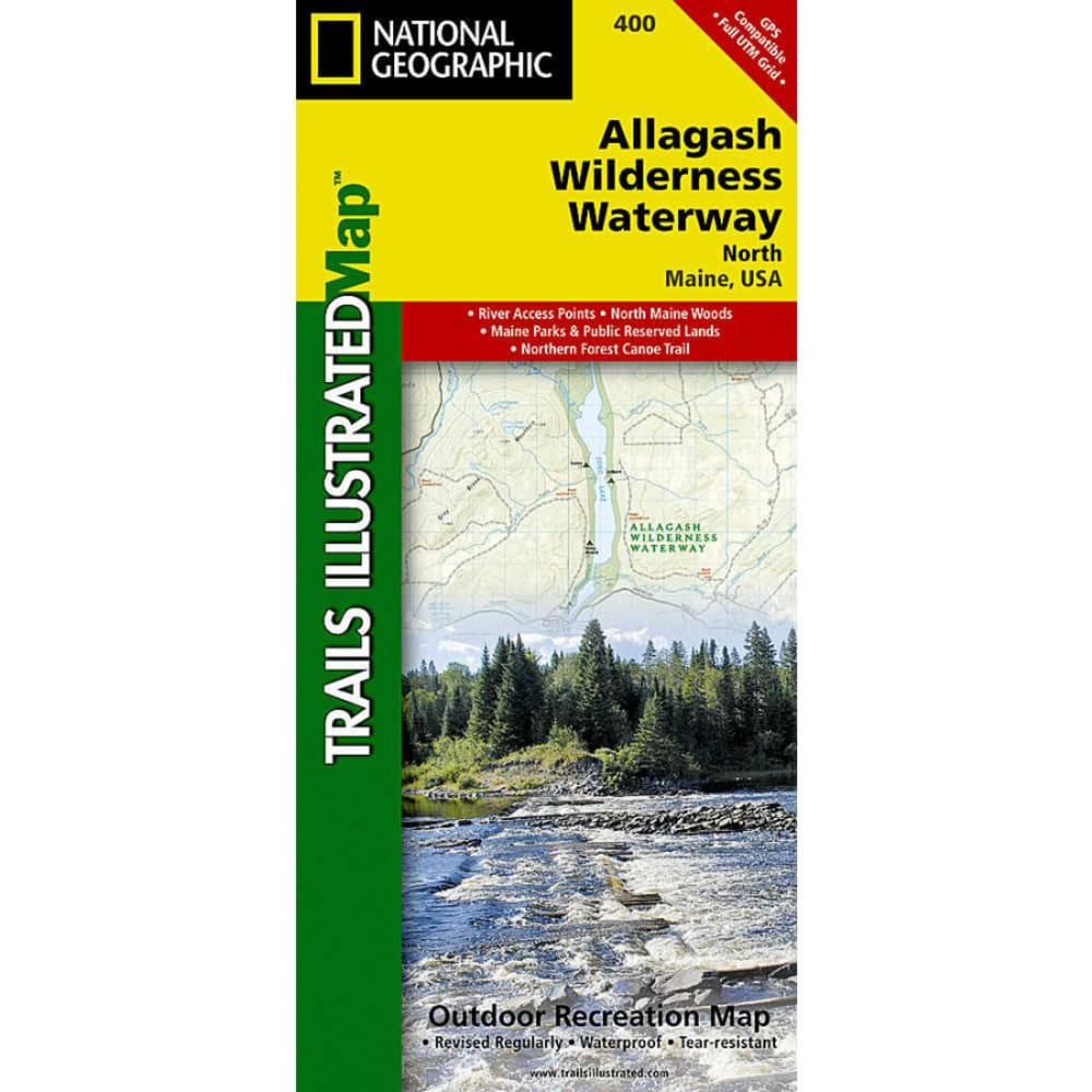 NAT GEO Allagash Wilderness Waterway North Trail Map NA