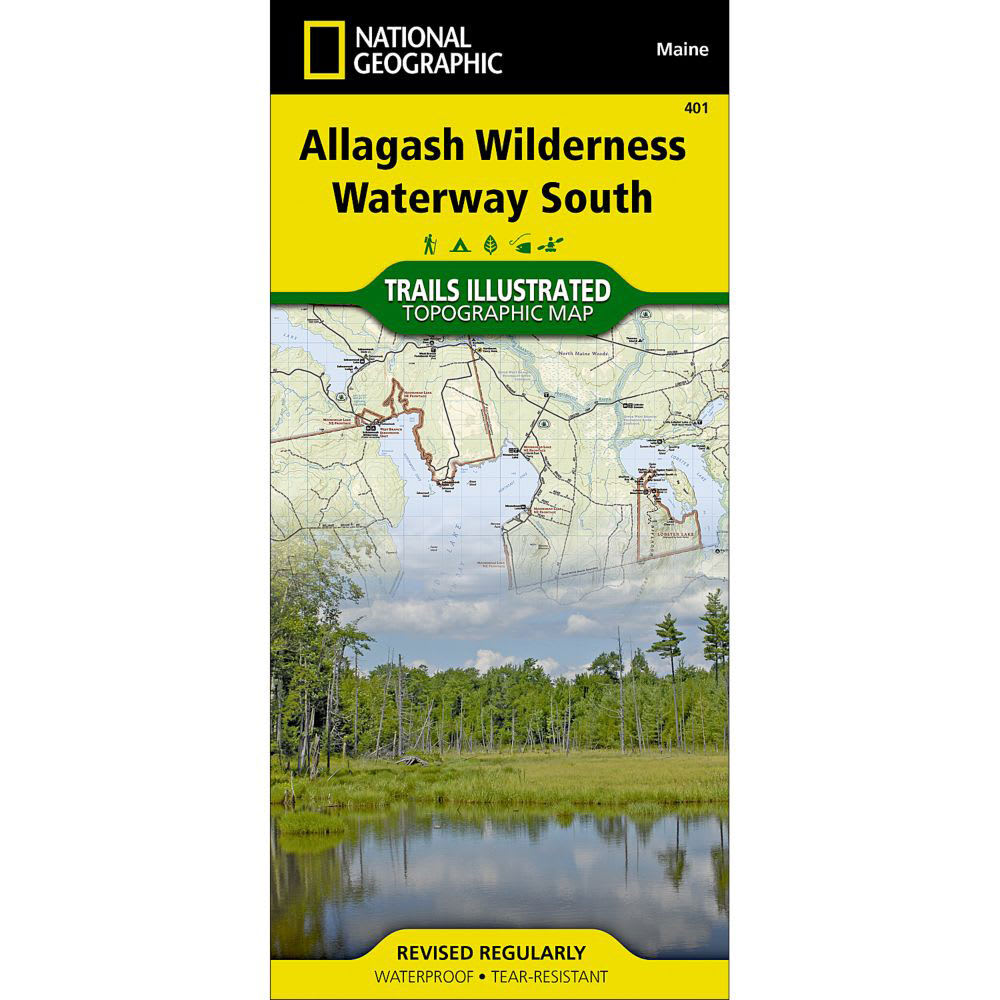 NAT GEO Allagash Wilderness Waterway South Trail Map - NONE