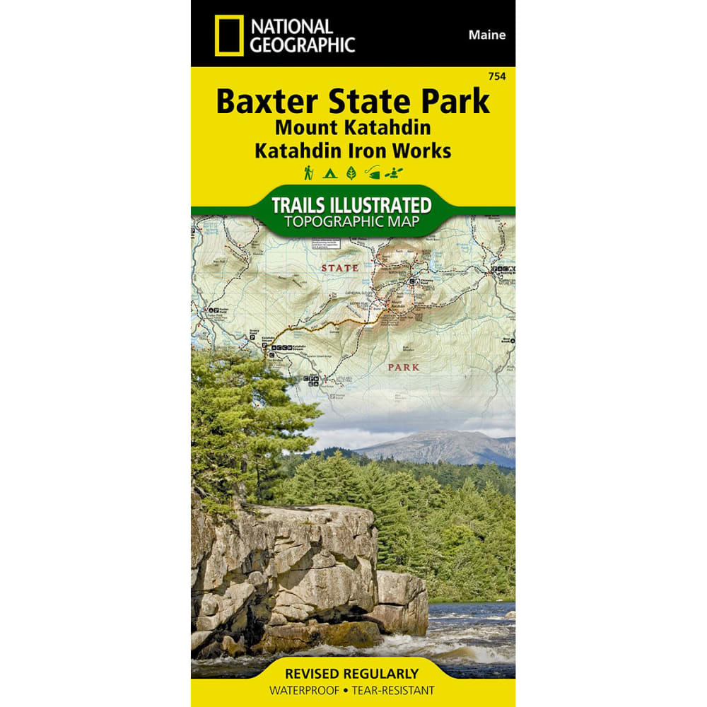 NAT GEO Baxter State Park/Mt. Katahdin, Maine Map NA