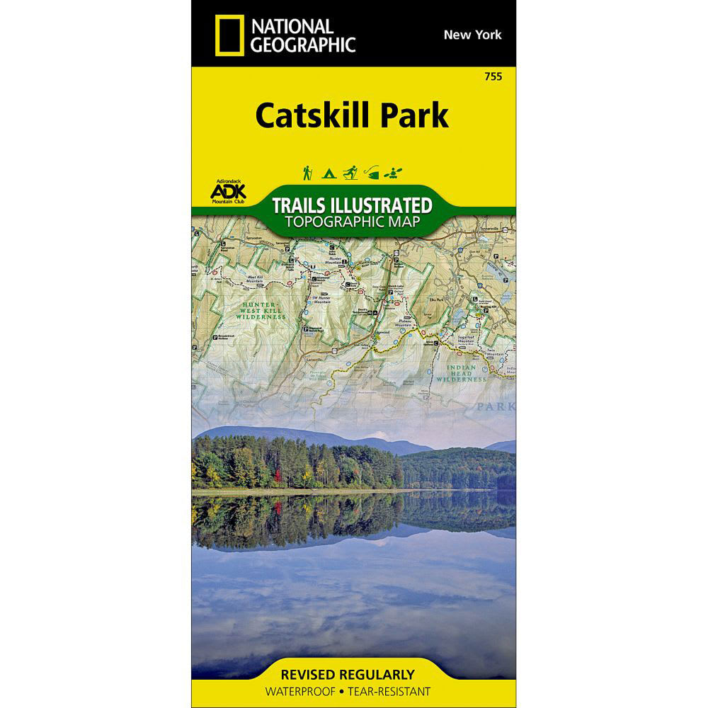 photo: National Geographic Catskill Park Trail Map us northeast paper map