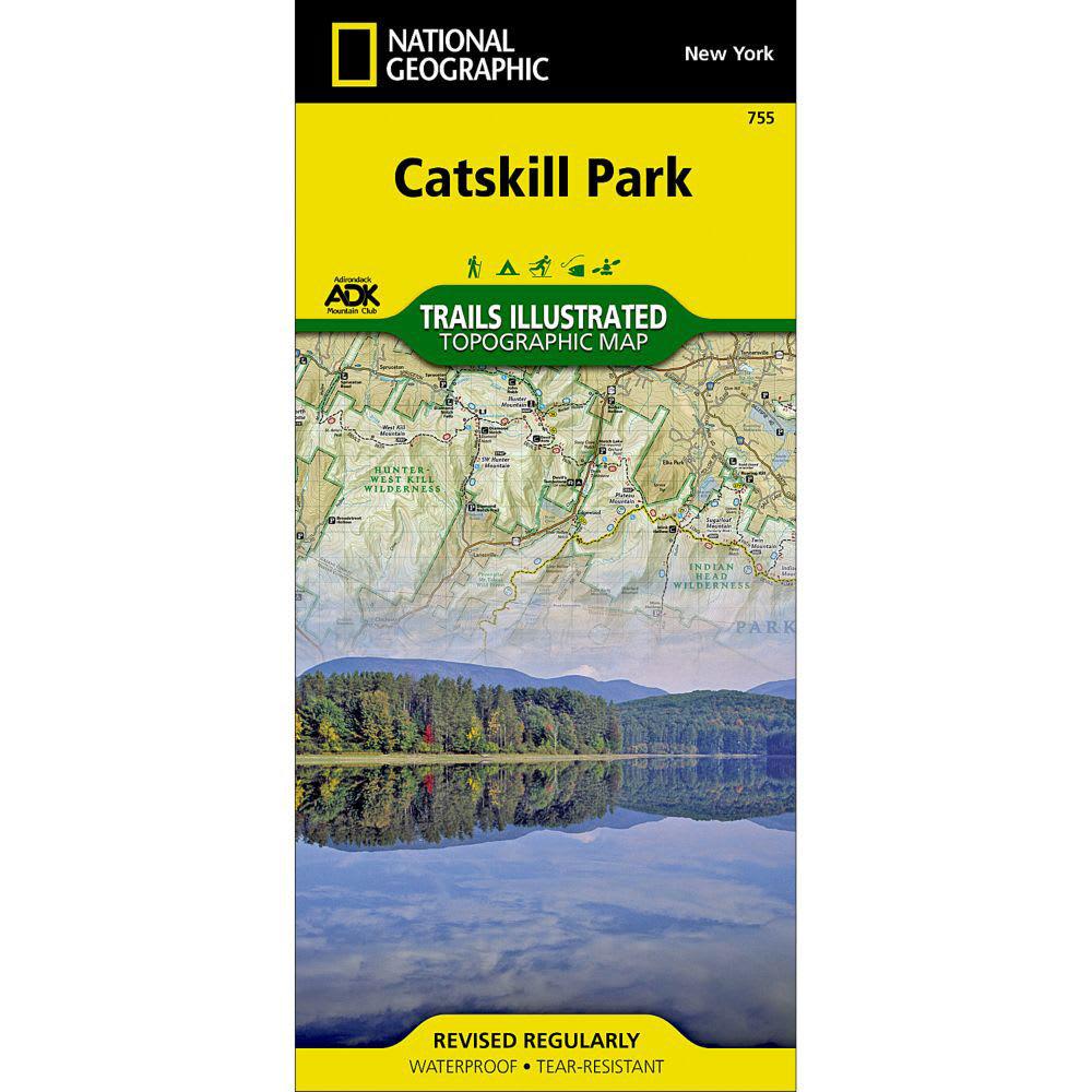 NAT GEO Catskills Park Trail Map - NONE