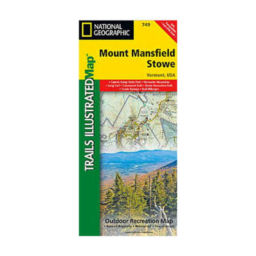 NAT GEO Mount Mansfield Stowe Map NA