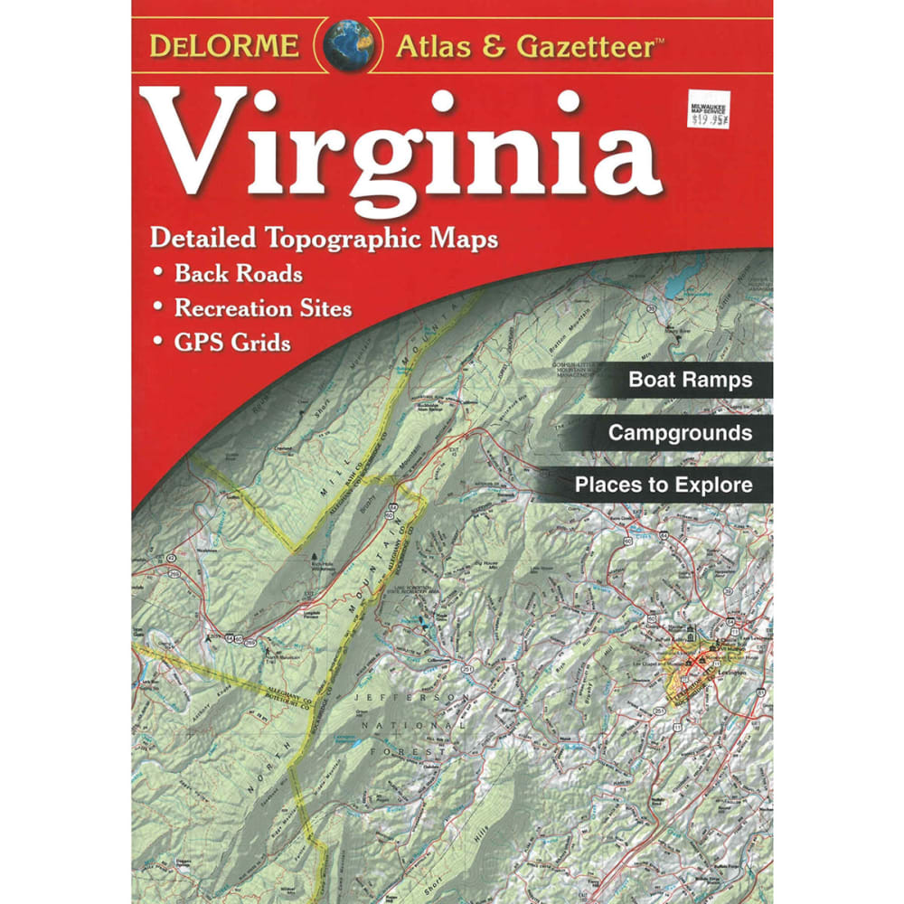 DELORME Virginia Atlas and Gazetteer - NONE