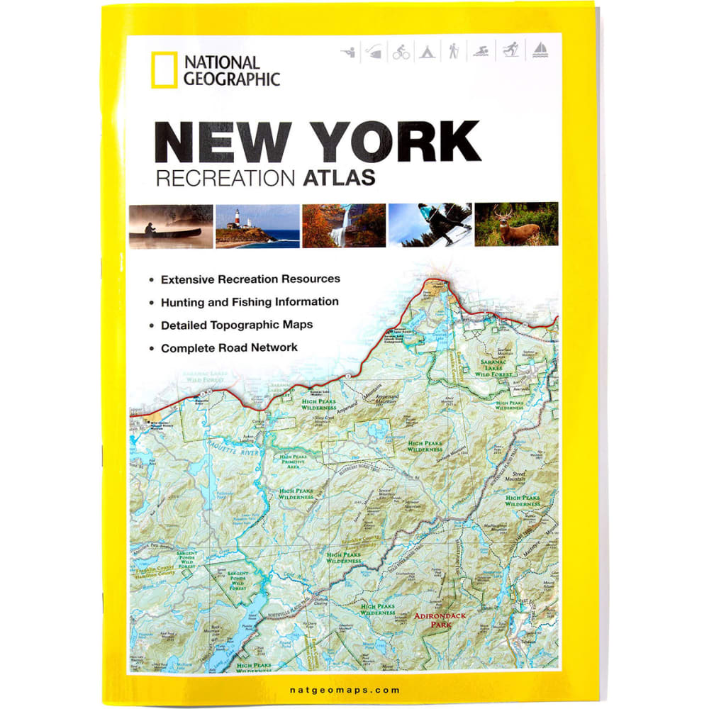 NAT GEO New York State Recreation Atlas - NONE