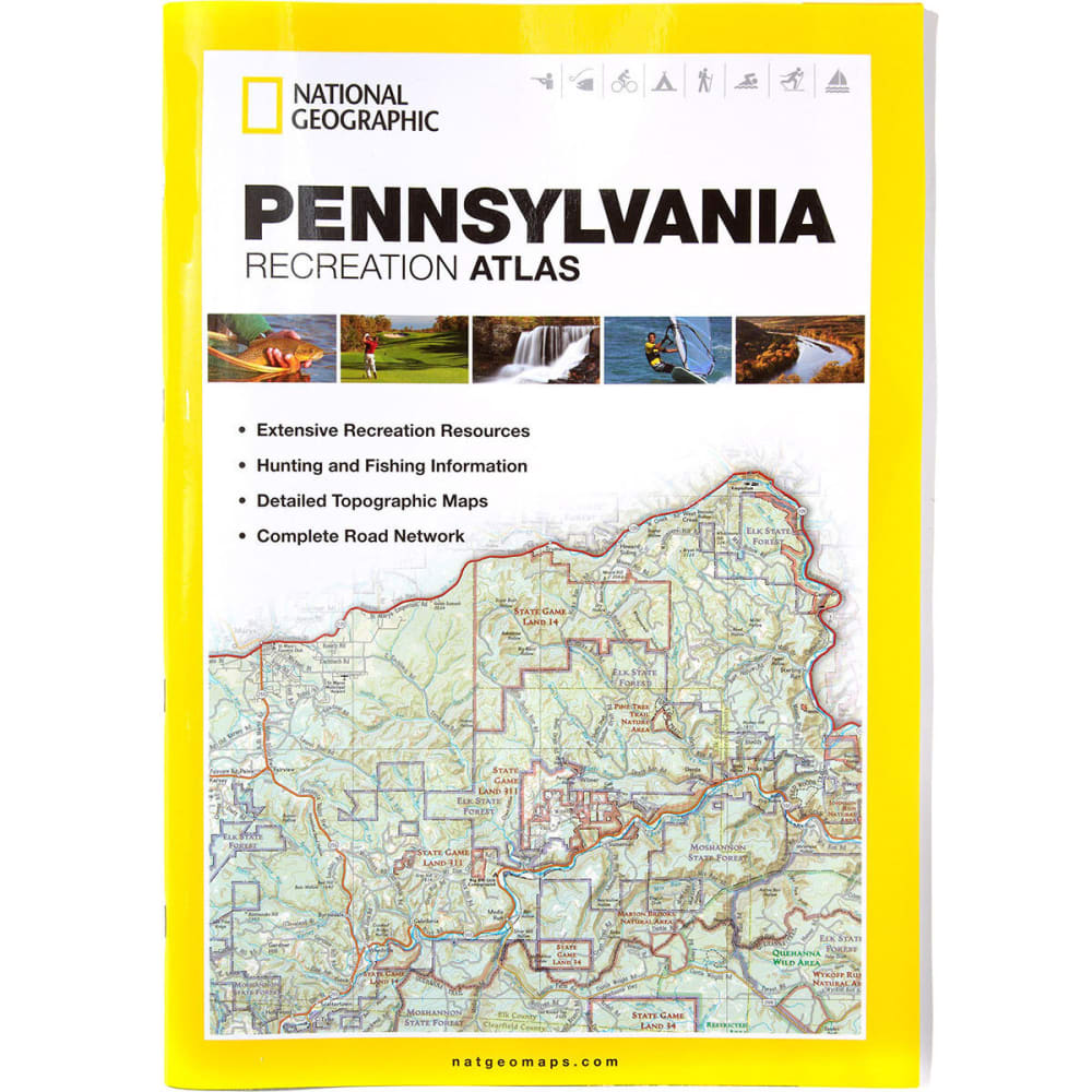 NAT GEO Pennsylvania Recreation Atlas - NONE