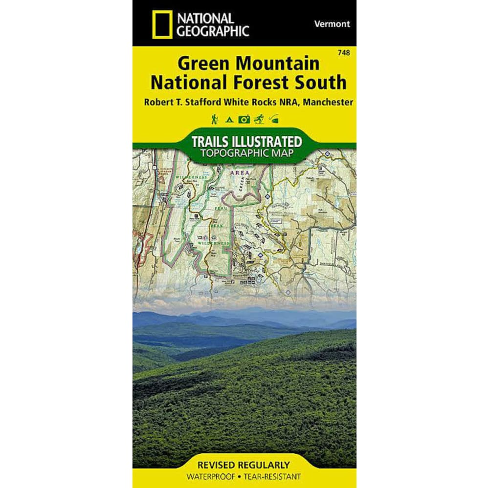 NAT GEO Green Mountains South Map - NONE