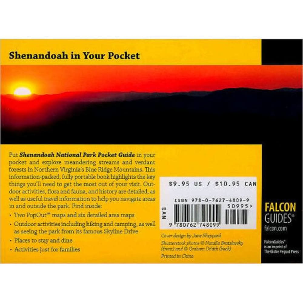 FALCON GUIDE Shenandoah National Park Pocket Guide - NONE