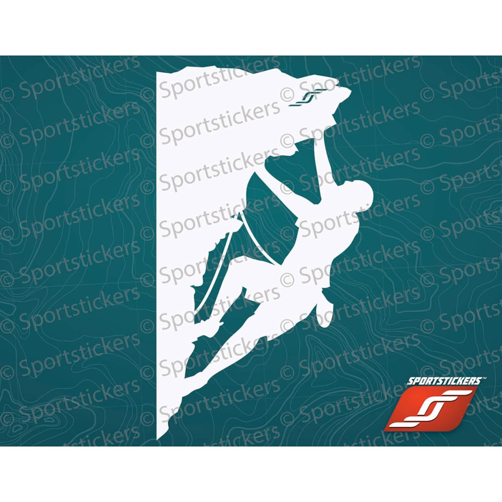 SPORTSTICKERS Rock Climber, White - WHITE