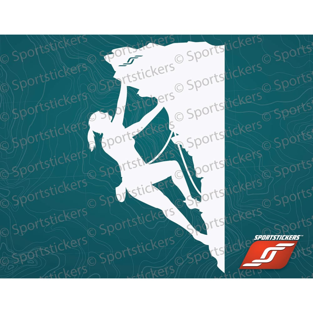 SPORTSTICKERS Women's Rock Climber, White - WHITE