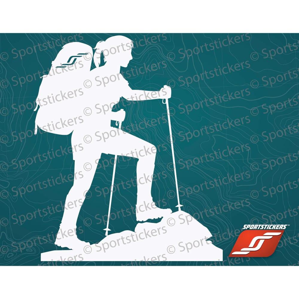 SPORTSTICKERS Women's Trekker, White - WHITE