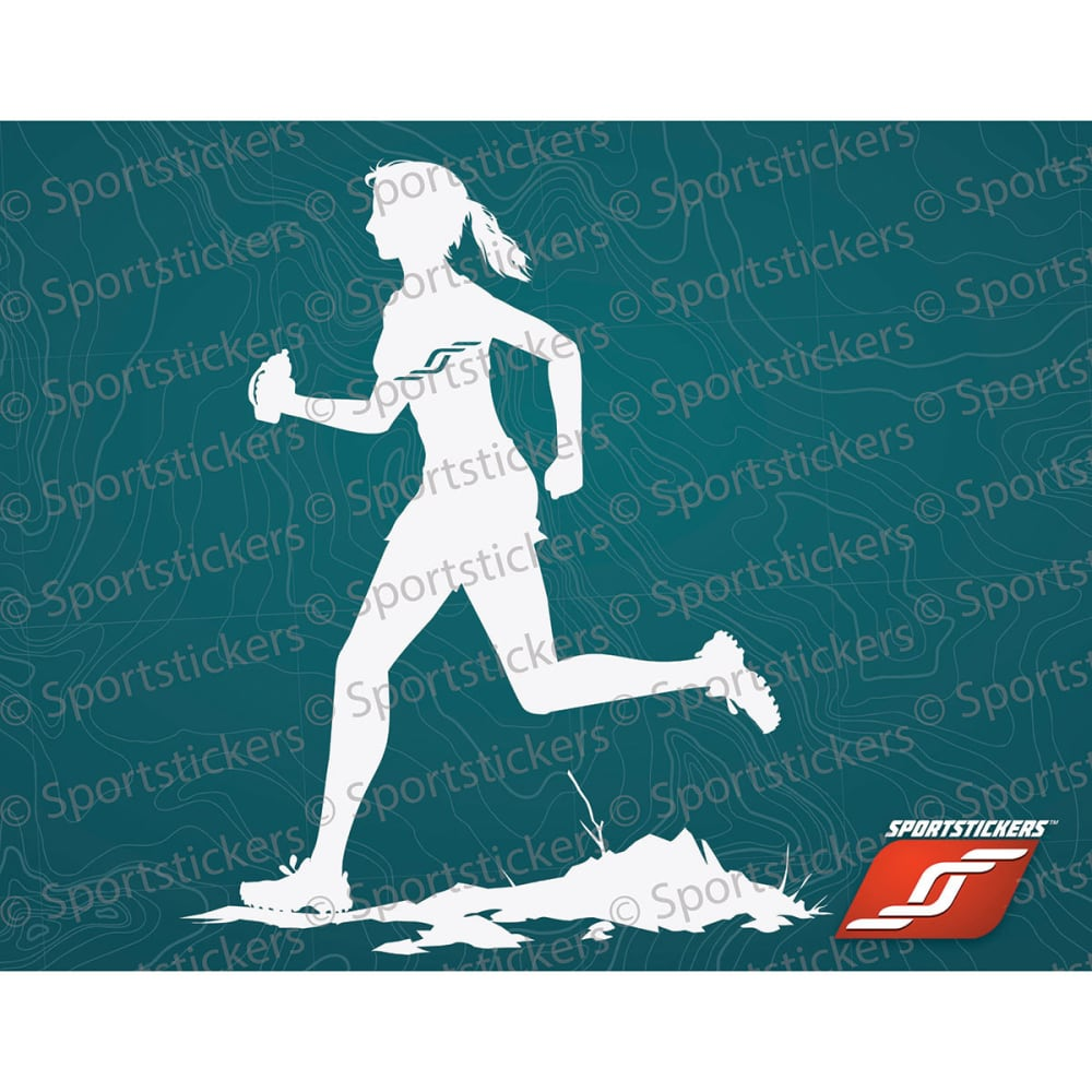 SPORTSTICKERS Women's Trail Runner, White - WHITE