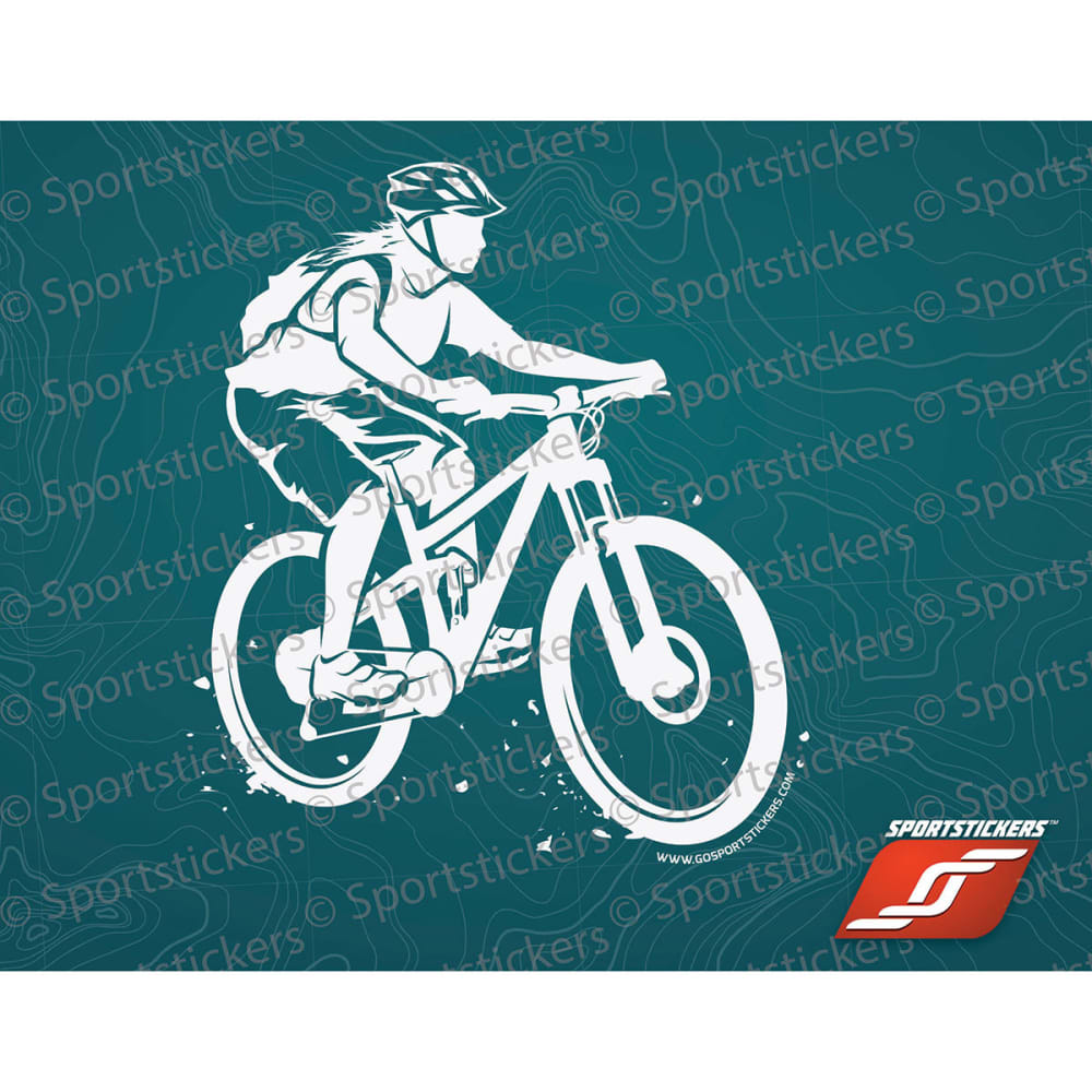 Sportstickers Womens Mountain Bike, White - White