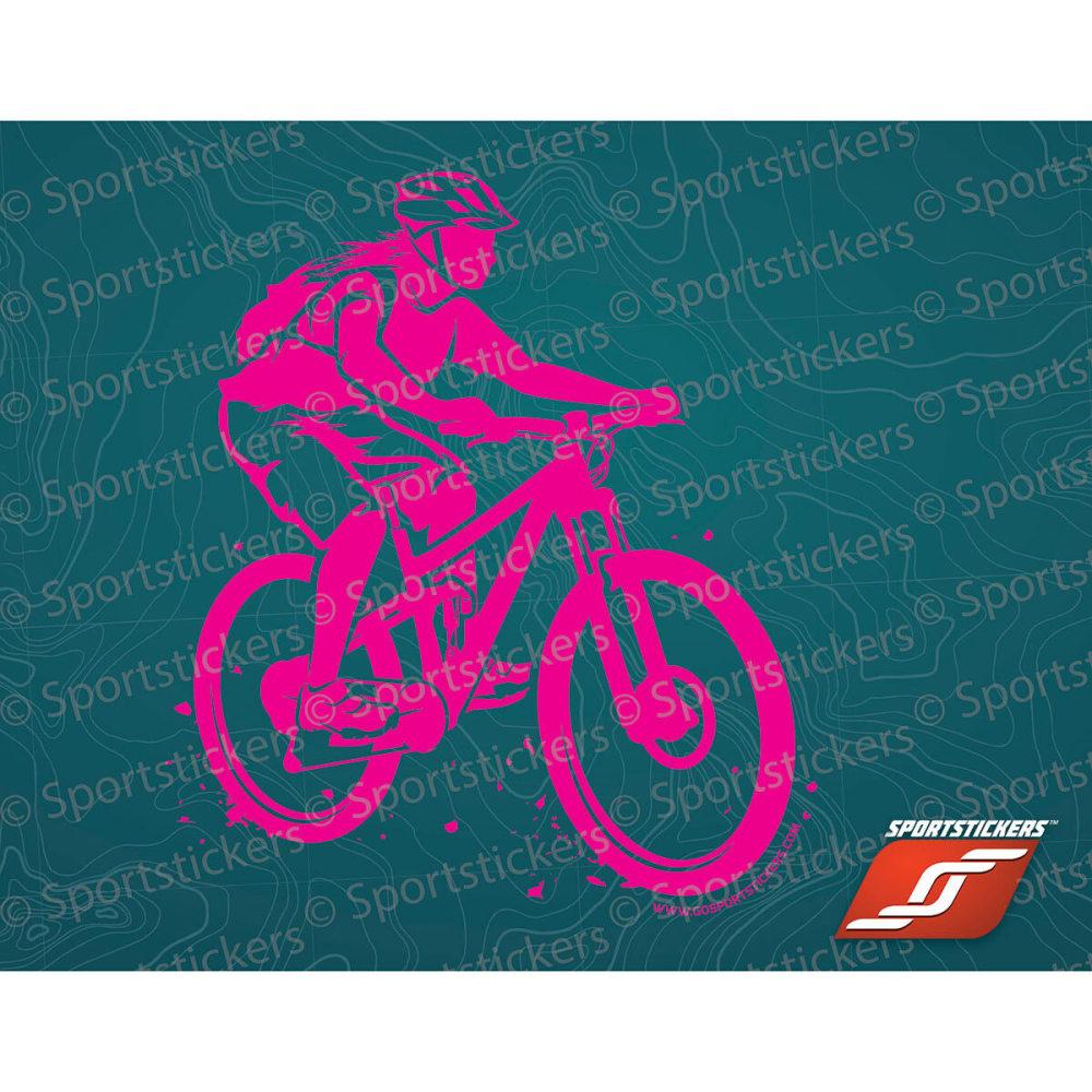 SPORTSTICKERS Women's Mountain Bike, Pink - PINK