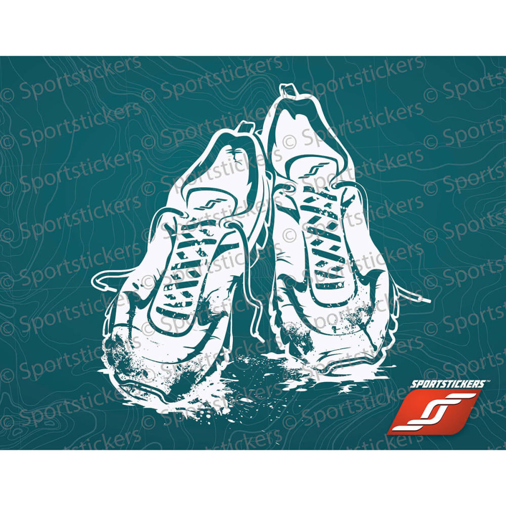 SPORTSTICKERS Trail Running Shoe, White - WHITE