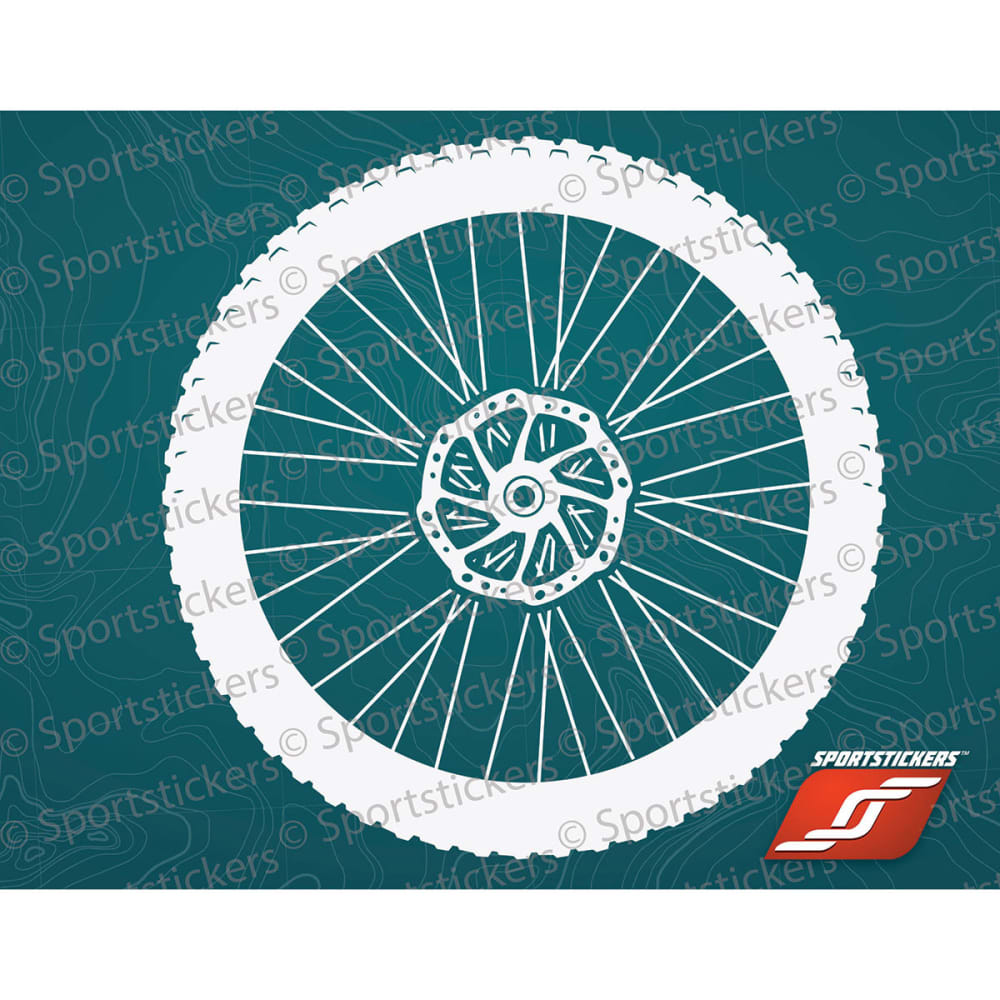 SPORTSTICKERS Mountain Bike Wheel, White - WHITE